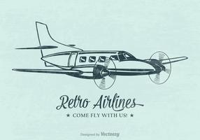 Cartaz retro do vetor do avião retro