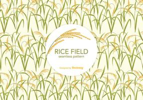 Rice Field Vector Pattern