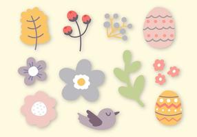 Vettore di elementi di Pasqua gratis