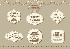 Stickers Happy Pongal vector