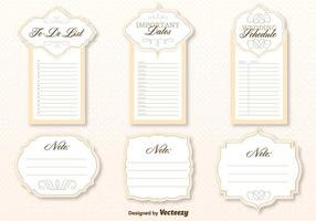 Wedding Organizer Template Vector