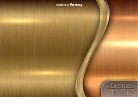 Textura de bronce - vector de fondo metálico