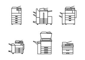 Vector Libre Fotocopiadora