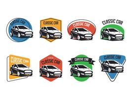 Set of Classic Car Emblems