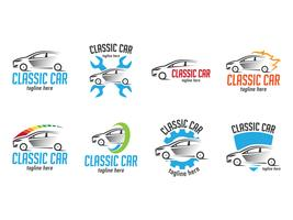 Speedy Classic Car Logos vector
