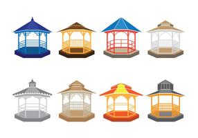 Gazebo Vector Icons
