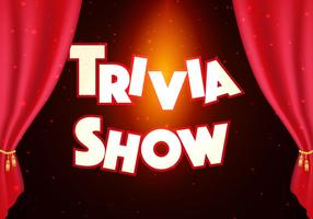 Trivia Show Background Illustration vector
