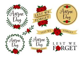 Anzac Template Free Vector