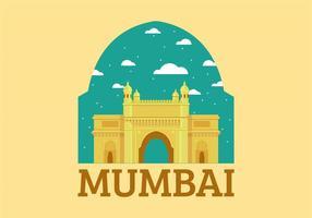 Mumbai Landmark Free Vector