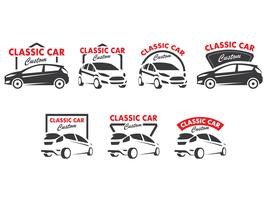 Classic Car Silhouette Emblem Collection