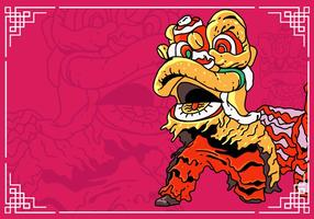Lion Dance And Chinese New Year vector