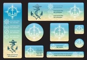 Banners submarinos vector