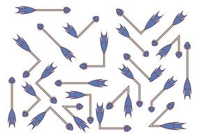 Blaue Flechas Vektor