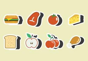 Lunch Fridge Magnet Vector