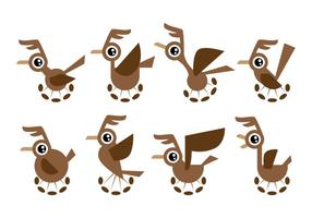 Free Cartoon Roadrunner Vector