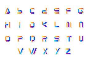 Vetor alfabético 3d livre