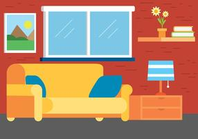 Free Flat Design Vector Room Design