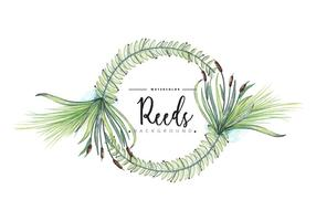 Free Reeds Wreath Background