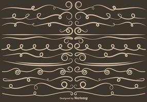 Set von VECTOR Curly Dividers