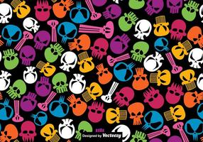 Vector seamless pattern of hand Drawn Skulls