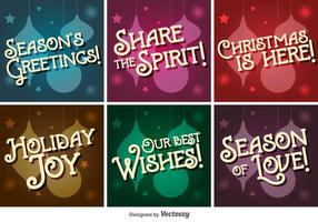 Retro Christmas Vector Letterings