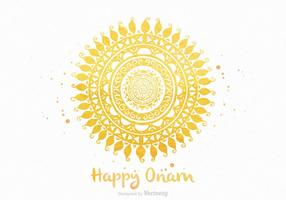 Gratis Happy Onam Vector Greeting Card