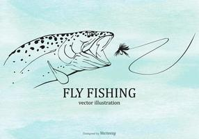 Gratis Fly Fishing Vector Illustratie
