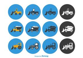 Gratis Snow Plow Vector Icon Set