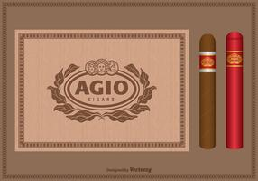 Gratis Vector Vintage Cigar Label Set