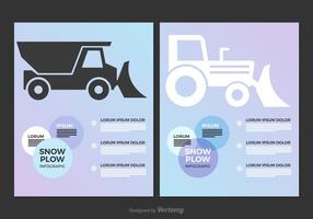 Gratis Snow Plow Vector Infographic