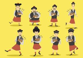 Free Bagpipes Vector Set