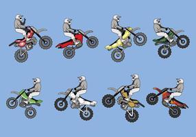 Vector libre de las motos de la suciedad