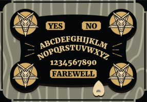 Vetorial bordo de ouija