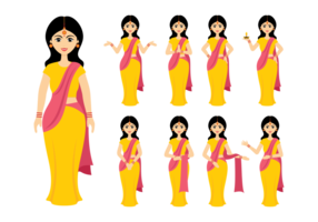 Vecteur féminin indien