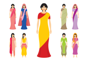 Mujeres de la India Vector