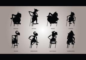 Wayang Silhouetten Vektor