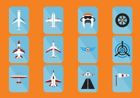 Ícone de aeronave vetor