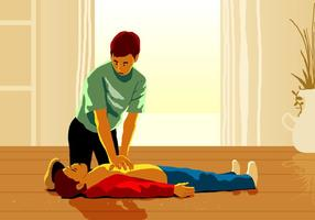 A Man Doing Cpr Rescue vector