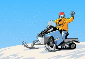 Sneeuwscooter Tour Vector
