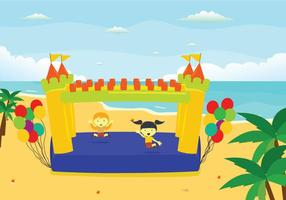 Free Bounce House Illustration