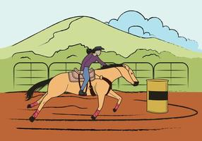 Fri Barrel Racing Illustration