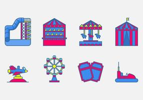 Amusement Park Vector Icon