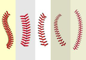 Baseball lace vector livre