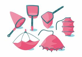 Fishing Net Vector Set