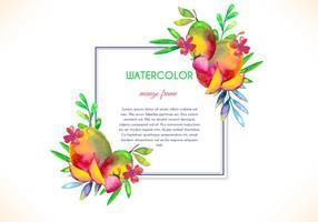 Cadre gratuit en mangue aquarelle vectorielle