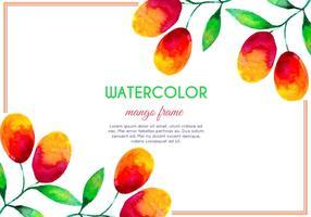 Vector Waterverf Mango Frame