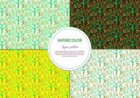 Gratis Vector Handgetekende Waterverf Thyme Patroon Met Bloemen En Bladeren