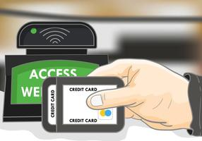 Payment With Rfid Illustration vector