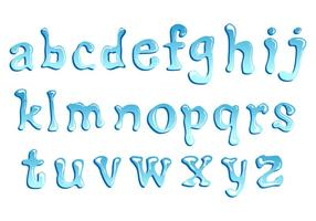 Lower Case Water Font