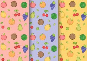 Vector libre patrón de la fruta